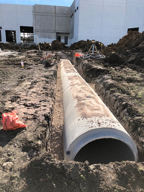 Last month we installed a 33 inch class IV drainage pipe on the 360 Arlington commercial building construction project.